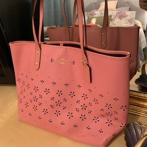 Coach flower tote bag